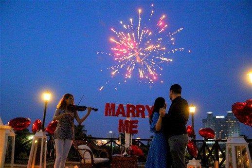 Çatı Katında Evlilik Teklifi Organizasyonu